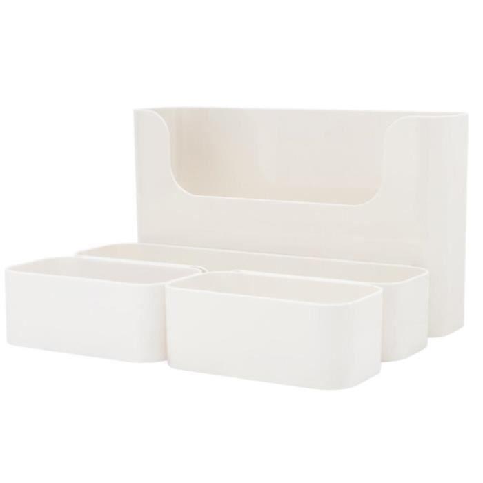 Boîte de rangement adhésif de salle de bain d'organisation