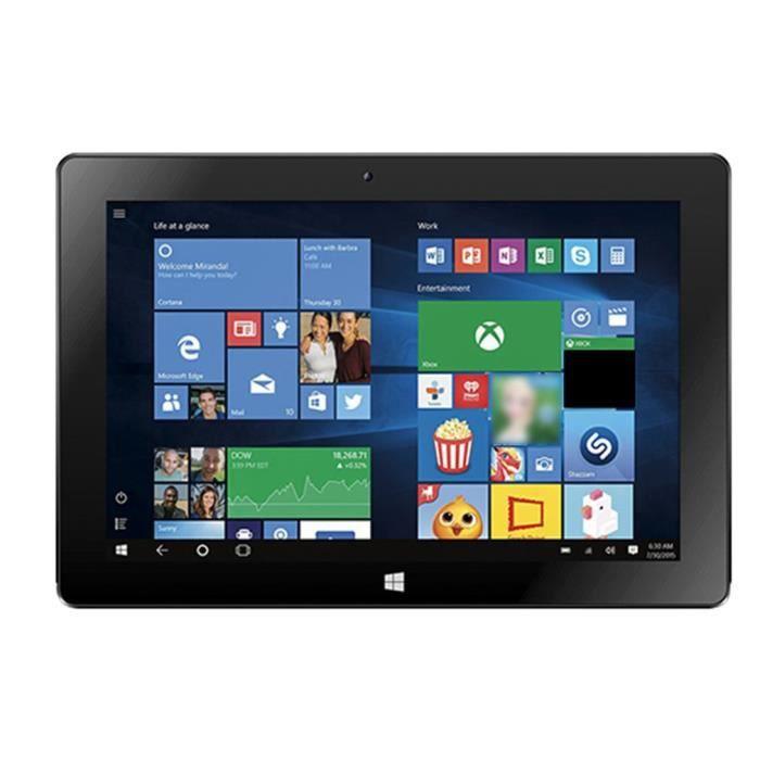 10,1 pouces Windows Business Tablette 2G + 32G PC légère et ordinateur 2 en 1