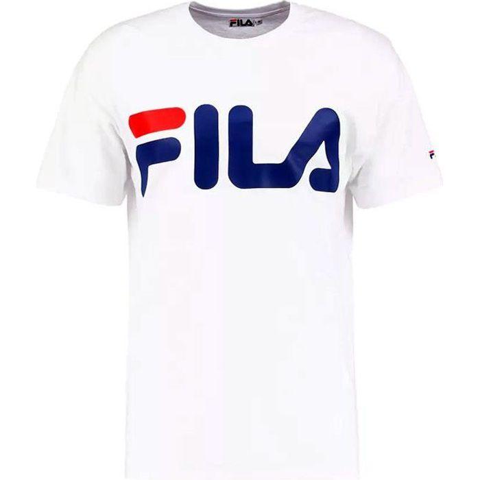 Tee shirt FILA homme classic logo 680427 blanc