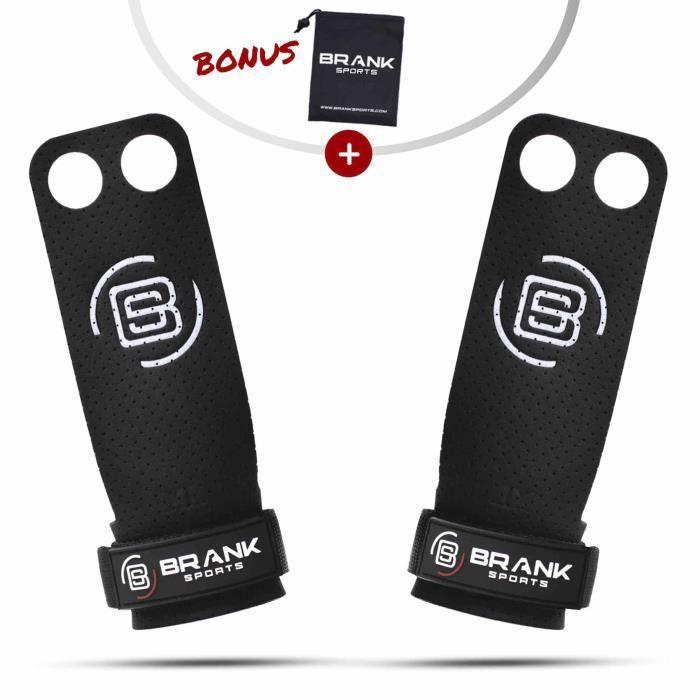 BRANK SPORTS Maniques Crossfit en Cuir Panther 2 Trous pour Protection des Mains - Crossfit / Gymnastique / musculation