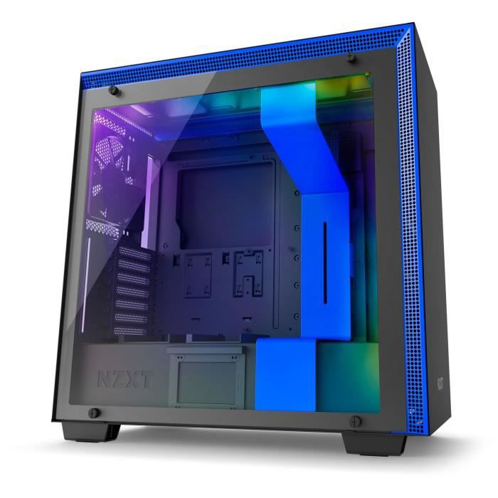 NZXT Boîtier PC H700i Noir/Bleu (CA-H700W-BL )