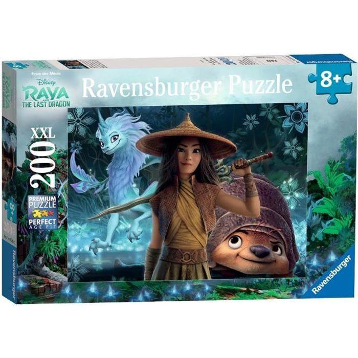 Puzzle 200 p XXL - Raya, Tuk Tuk et Sisu / Disney Raya et dernier dragon