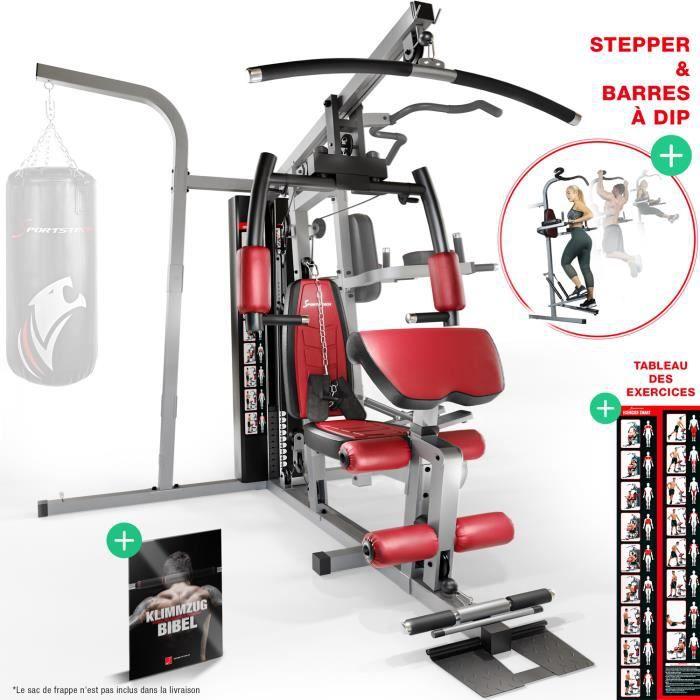 Sportstech Premium HGX260 AVEC sac de boxe 50en1 Multi Gym pour un entraînement complet - entraînement multifonctionnel à domicile