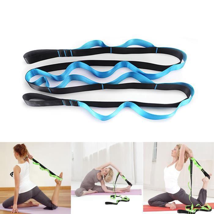 1 Bande de résistance à l'étirement Yoga Entraînement élastique Équipement de fitness -Bleu