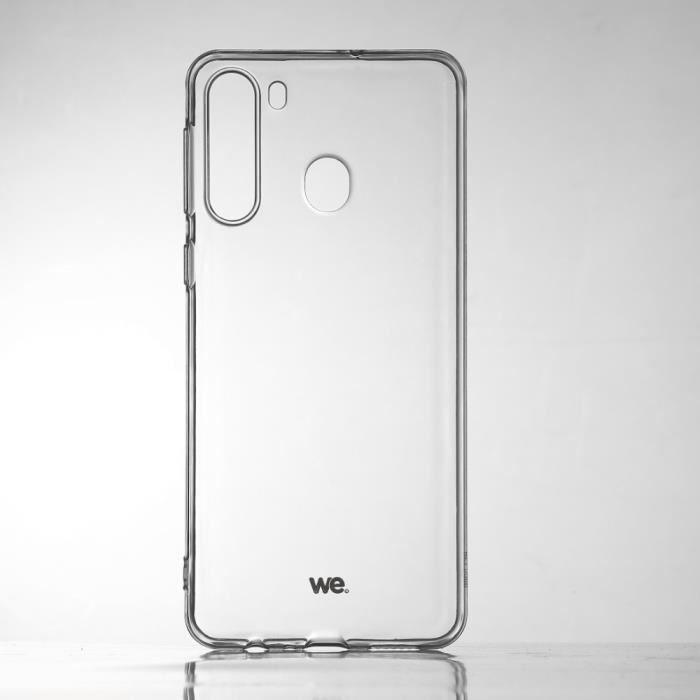 WEWE Coque de protection transparente pour smartphone Samsung Galaxy A21 Fabriqué en TPU. Ultra résistant Apparence du téléphone