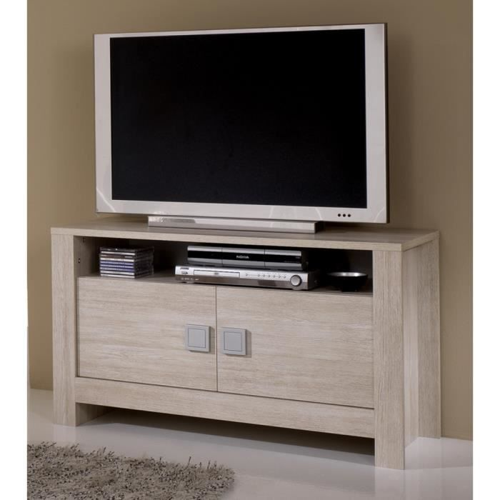 meuble tv pisa chene blanchi achat vente meuble tv. Black Bedroom Furniture Sets. Home Design Ideas