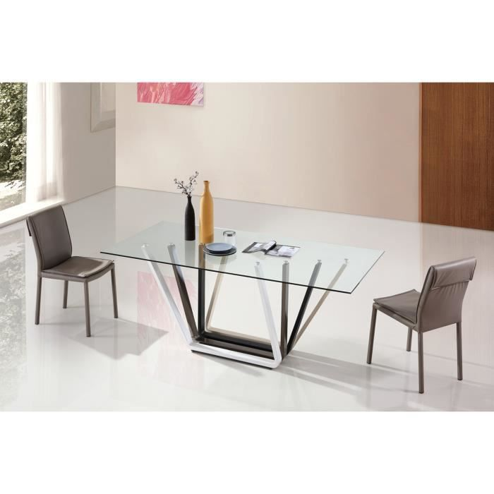 table manger design en verre manarola achat vente table a manger seule table manger. Black Bedroom Furniture Sets. Home Design Ideas