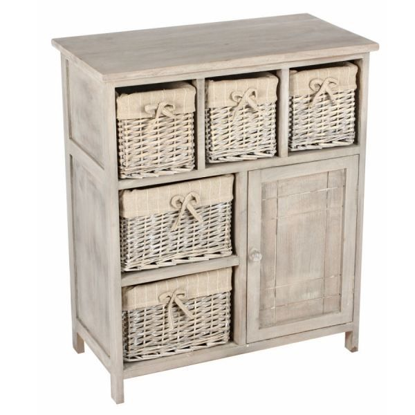 Commode de la collection osier et nature achat vente for Petit meuble 1 porte
