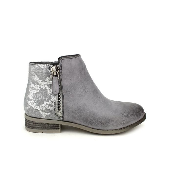 bottine - boots, Bottines Gris Chaussures Femme, Cendriyon