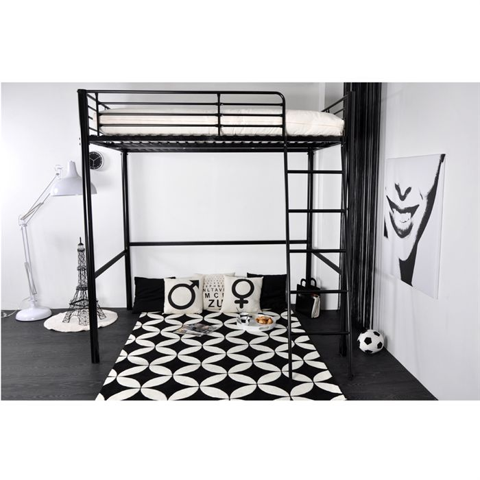 rocket lit mezzanine adulte 140x190 matelas cru achat vente lit mezzanine rocket lit. Black Bedroom Furniture Sets. Home Design Ideas