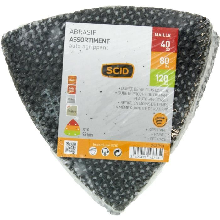 Grain 180 Diam/ètre 180 mm Disque auto-agrippant non perfor/é SCID Vendu par 5