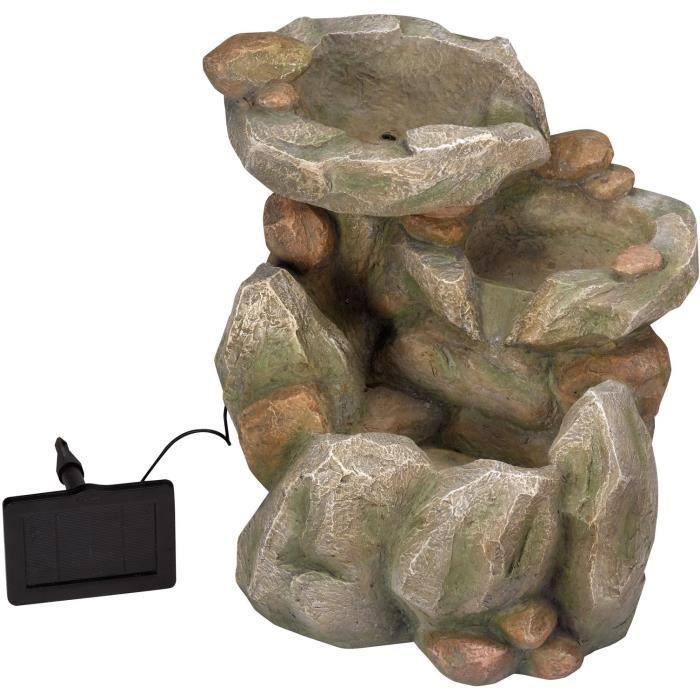 Fontaine cascade solaire