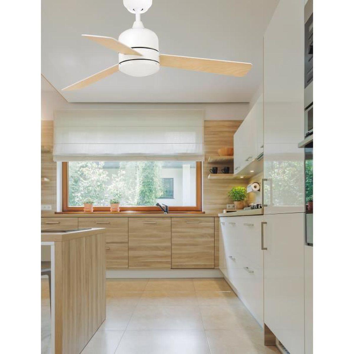 Farelek 112427 Samoa Ventilateur de plafond 4 pales r/éversible 107 cm