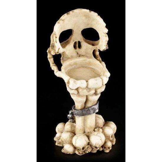 Trois Sage Crânes Photophore style gothique bougeoir NEMESIS NOW 11 cm