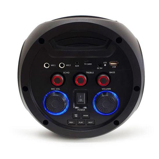 Enceinte autonome MyDj XTREM04 Son 360/° /à LED 2 faces 400W Light UFO USB//BT//FM//AUX T/él/écommande 2 MICROS KARAOKE