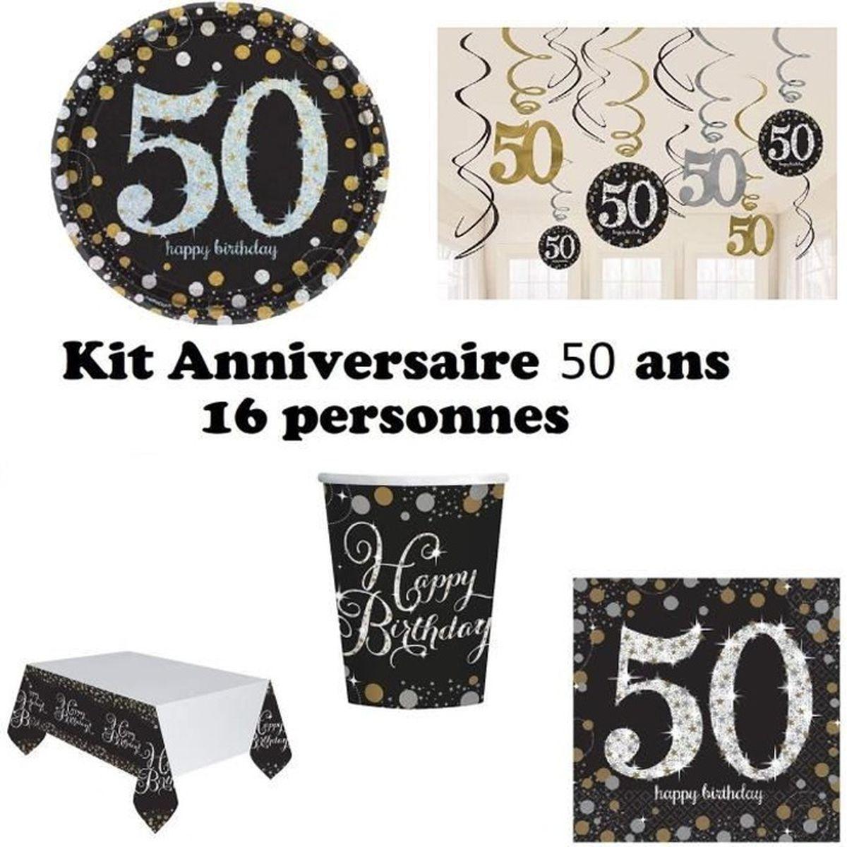 """** 8 x Noir /& Or Fête 9/"""" Assiettes en Papier Joyeux Anniversaire Vaisselle Neuf Adultes"""
