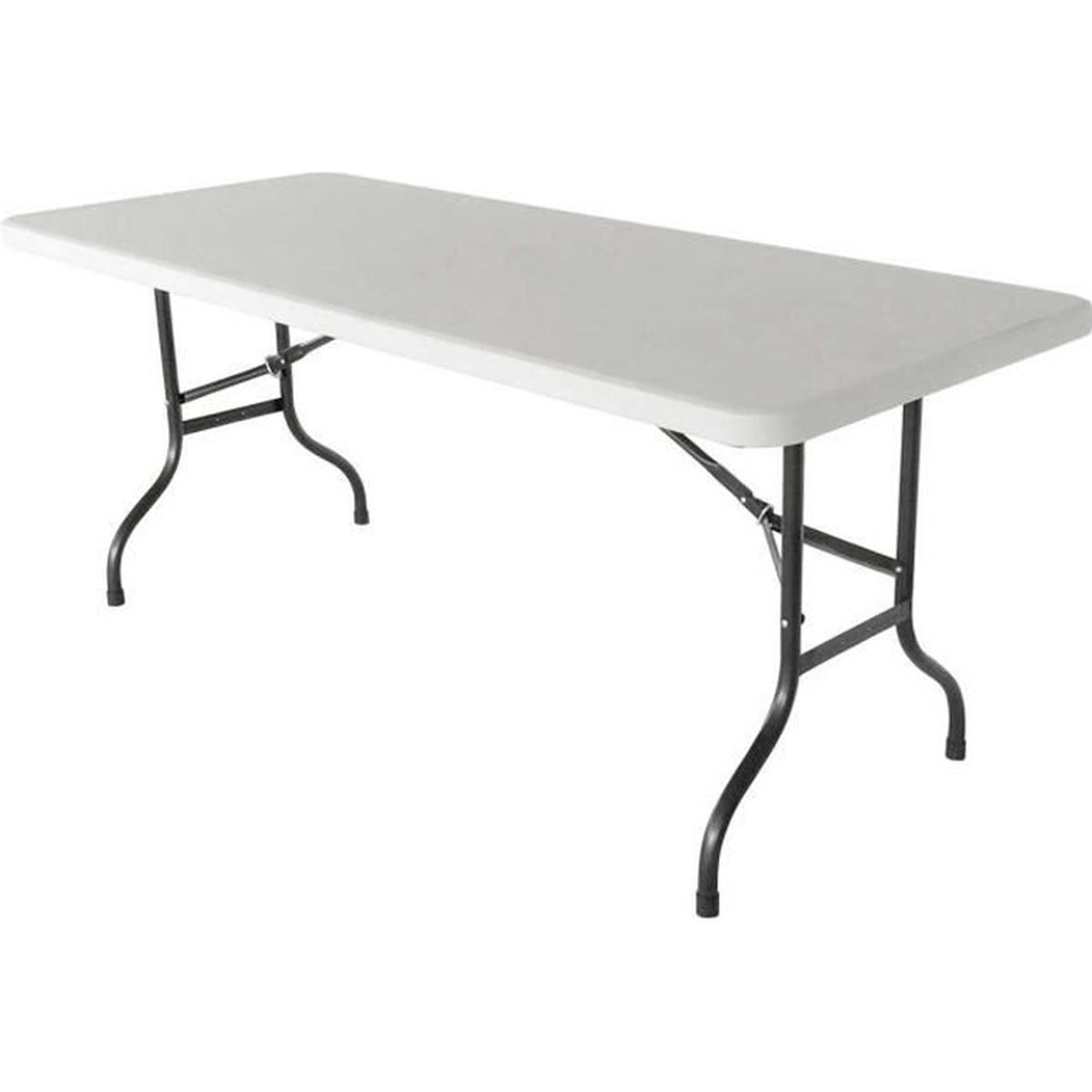 Table pliante d 39 appoint 200 cm table pliable 8 places - Table de bridge pliante ...