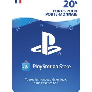 CARTE MULTIMEDIA Abonnement Playstation Network Live Card 20 € PS4
