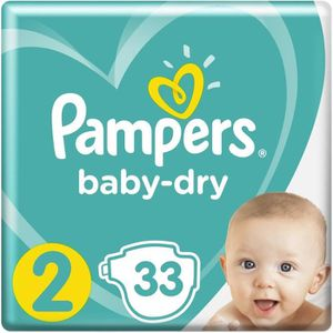 COUCHE Couches baby dry T2 x 33 Pampers