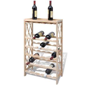 MEUBLE RANGE BOUTEILLE Etagère à Bouteille Casier à Vin en Bois pour 25 B