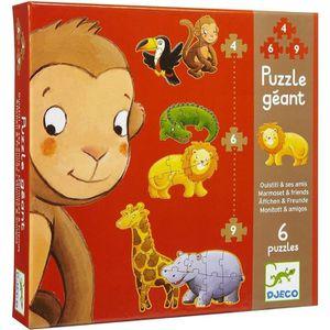 PUZZLE Puzzle bébé 2 ans Djeco La jungle puzzles évolutif