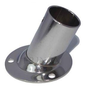 Platine Rectangulaire 25mm Droite 90° inox 316 Embase