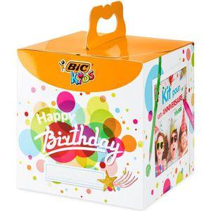 Boîte cadeau BIC Kids Kit Anniversaire - 12Crayons de Couleurs
