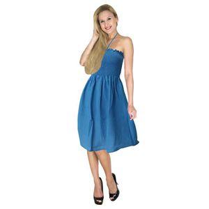 MAILLOT DE BAIN La Leela rayonne bustier robe dos nu jupe courte f