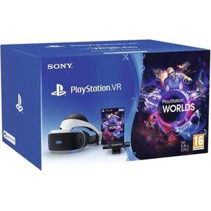CASQUE RÉALITÉ VIRTUELLE PlayStation VR MK3 + Caméra v2 + VR Worlds (vouche