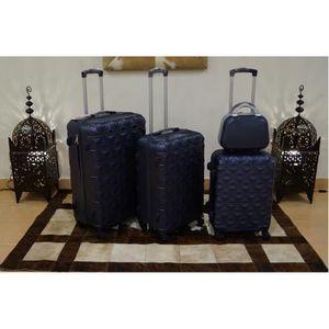 SET DE VALISES Set 3 valises + Vanity, 4 roues pivotantes BLEU