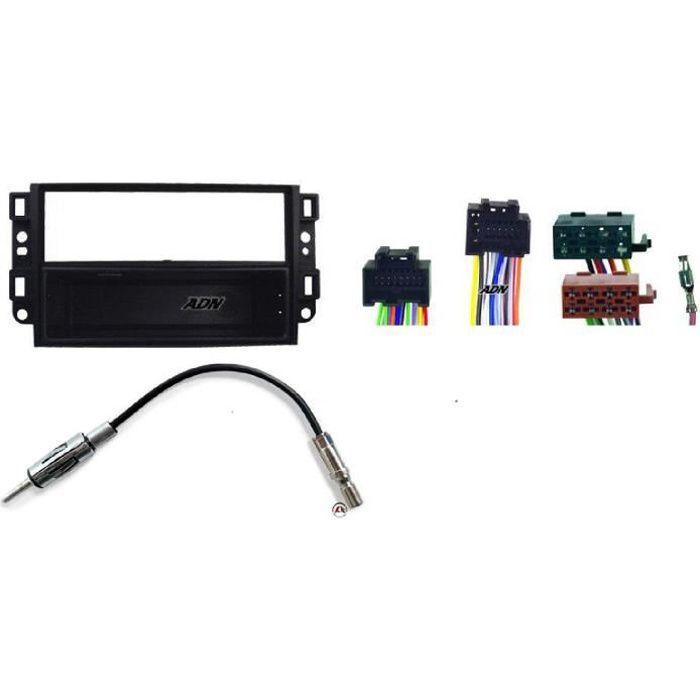 Kit Adaptateur Autoradio 1DIN Chevrolet Aveo/ Captiva/ Epica ap06 + ISO + FM avec vide-poche - KITFAC203 - ADNAuto