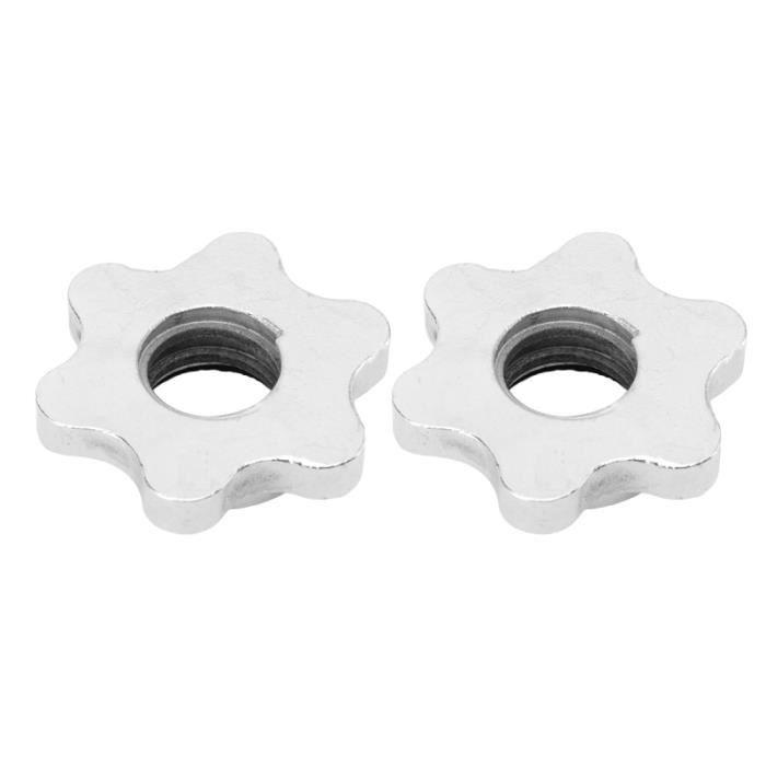 2 pièces écrou hexagonal fileté anti-dérapant en fonte vis de collier de verrouillage rotatif pour haltère DRONE