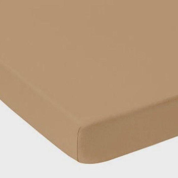 Drap Housse TAUPE CAFE au LAIT Jersey Coton Bonnet de 30 cm 80 x 200 cm