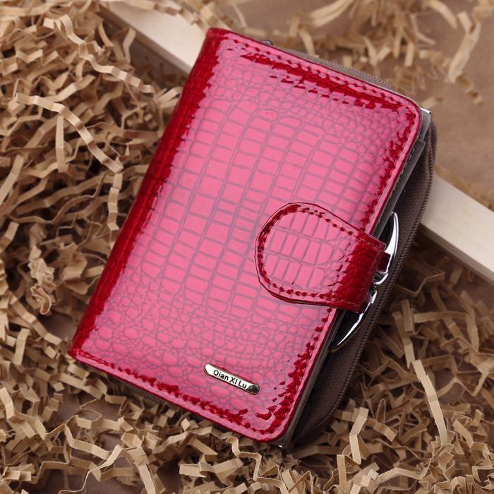 Sac à main en cuir pour femme zip Bag Card sac fourre-tout porte-monnaie RD-SJF70919732RD_1234