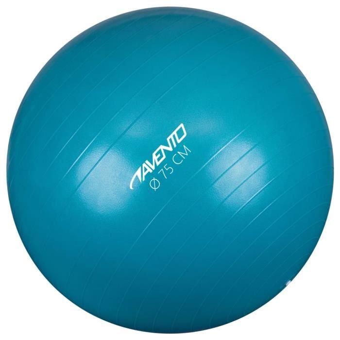 Avento Magnifique-Ballon de fitness-d'exercice Ballon de Gymnastique pour Fitness Exercice Yoga - Diamètre 75 cm Bleu♕8638