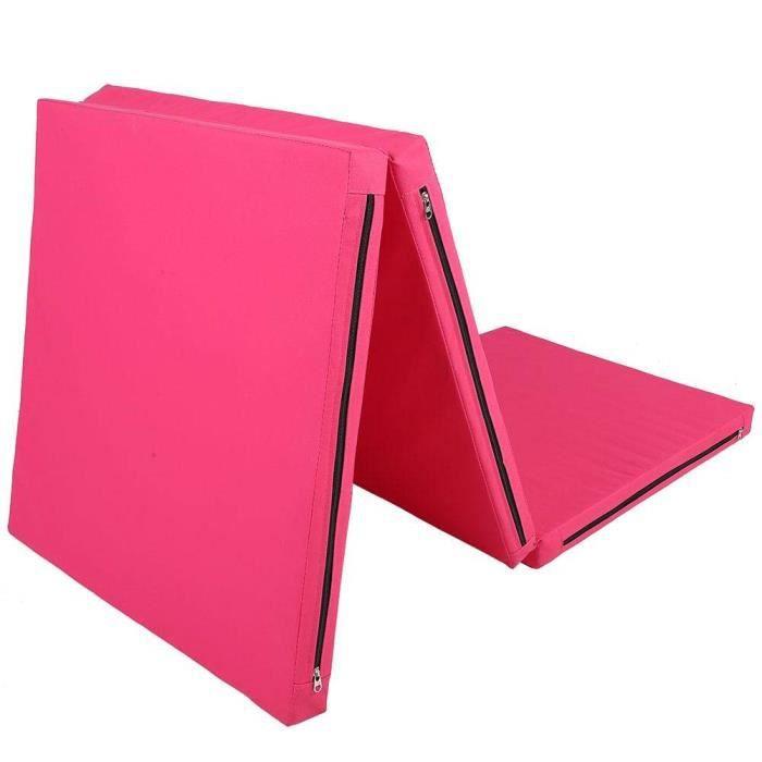 VGEBY1 Tapis de Yoga Pliant, Tapis d'exercice Tapis de Fitness avec Coussins Et Poignées Tapis de Gymnastique Tapis de Sol Gymnas