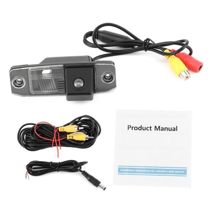 Fdit Moniteur de caméra de recul Caméra de Vue Arrière IP67 Étanche pour Hyundai Elantra Sonata Accent Tucson Kia Sorento