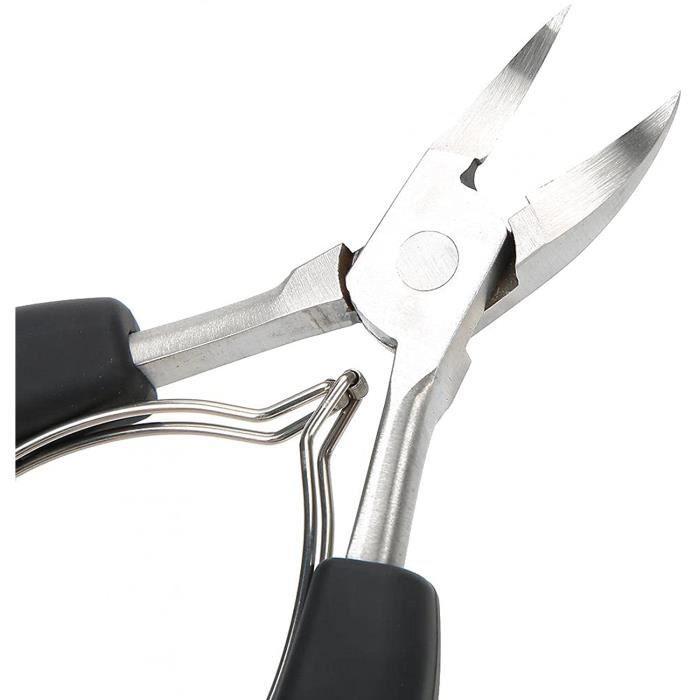 Pince à onglespince à cuticules outil de manucure ciseaux à cuticulespour ongle d'orteil(black) 816