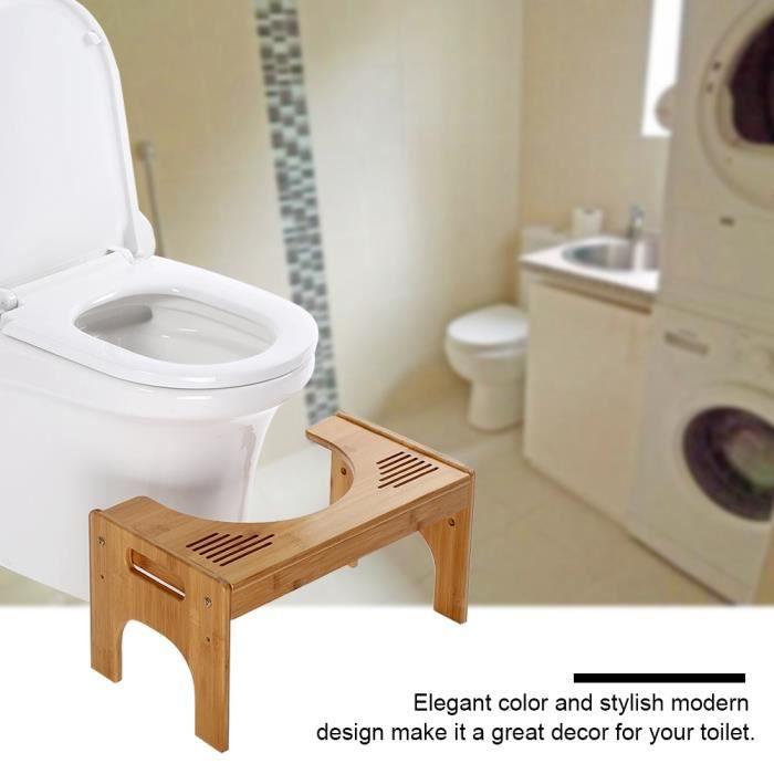 Tabouret Toilette Enfant Adult Santé Repose-pieds Salle de Bain Antidérapant - bambou HB0043 -POU