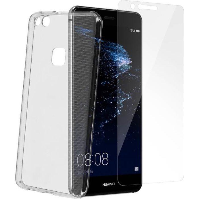 Pack de protection Coque + Film verre trempé Huawei P10 Lite