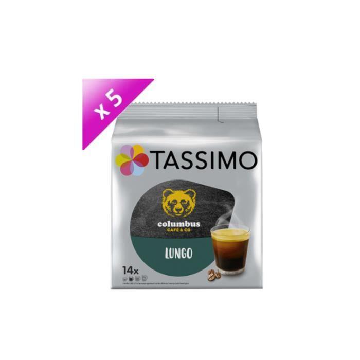 [LOT DE 5] TASSIMO Café Colombus Lungo - 14 T-Discs - 89,6 g
