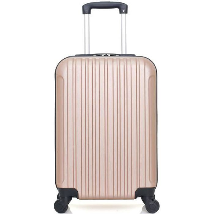 HERO – VALISE CABINE - ABS – 55cm – 4 roues – ALPES – ROSE DORE