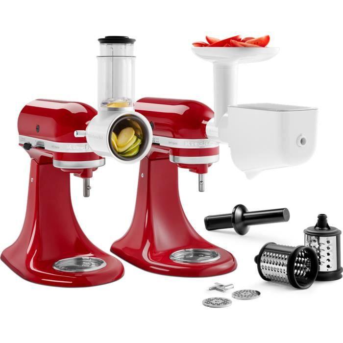 kitchenaid - kit de 3 accessoires pour robot artisan - 5ksm2fppc