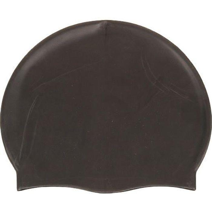 Bonnet de bain Silicone noir bonnet