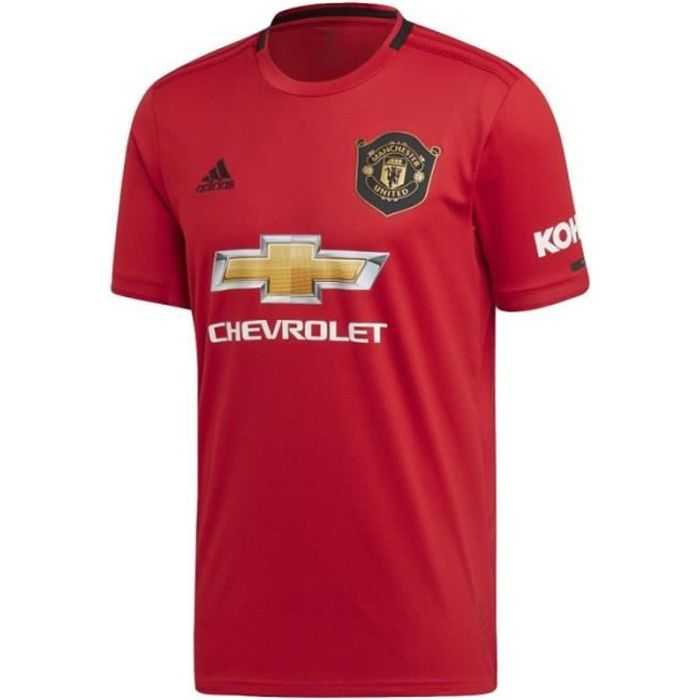 Maillot Manchester United Football Domicile Enfant 2019/2020 Adidas Rouge
