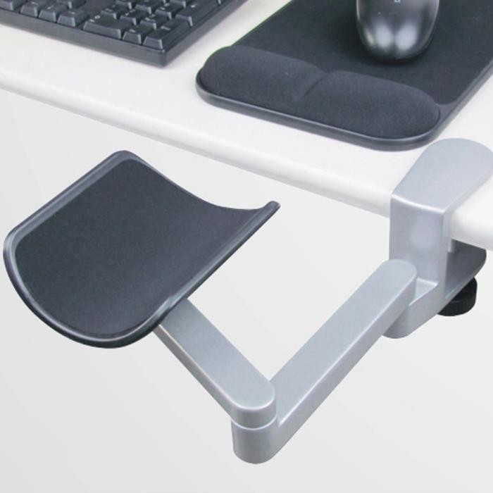Support de bras et repose-poignet réglable pour accoudoir d'ordinateur ergonomique pour support de main de souris pour bureau à domi
