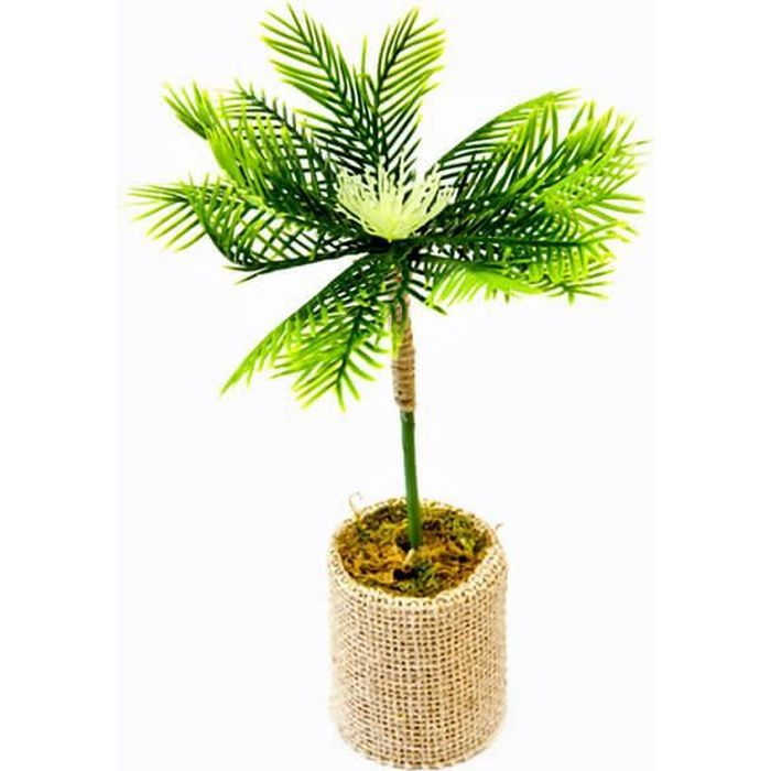 Palmier en pot avec jute 18cm (x1) REF/PO1033