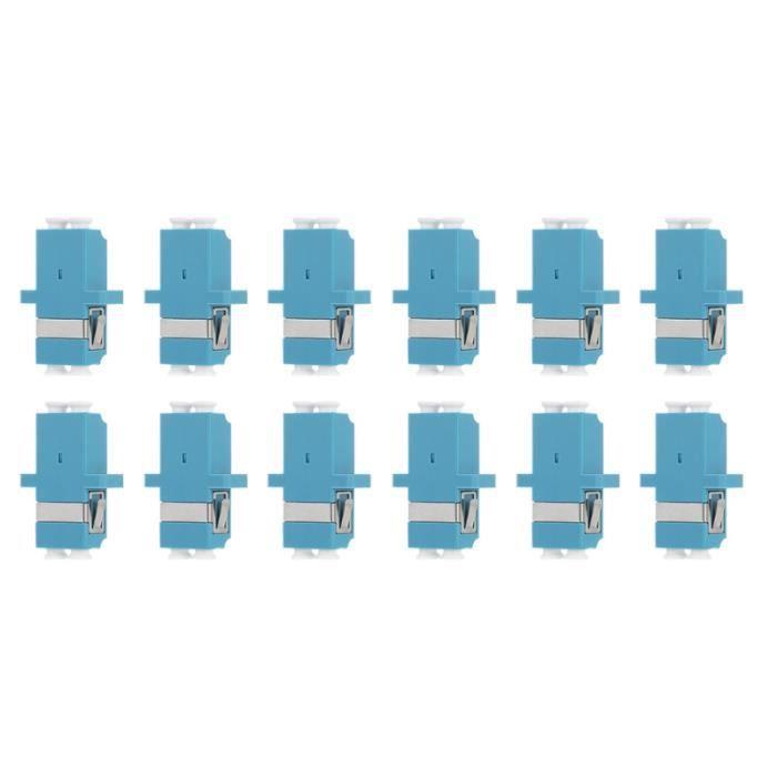 12 pièces adaptateurs de fibre optique en Double-port Duplex adaptateur vers SWITCH - HUB ETHERNET - INJECTEUR