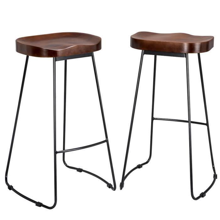 2 Tabouret De Bar Industriel Tabouret Haut Design Avec Siege
