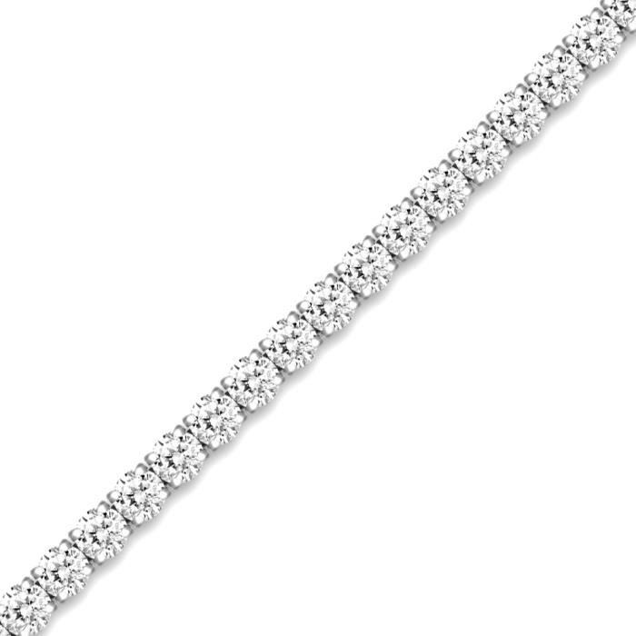 Jewelco London Dames Argent sterling blanc tennis bracelet